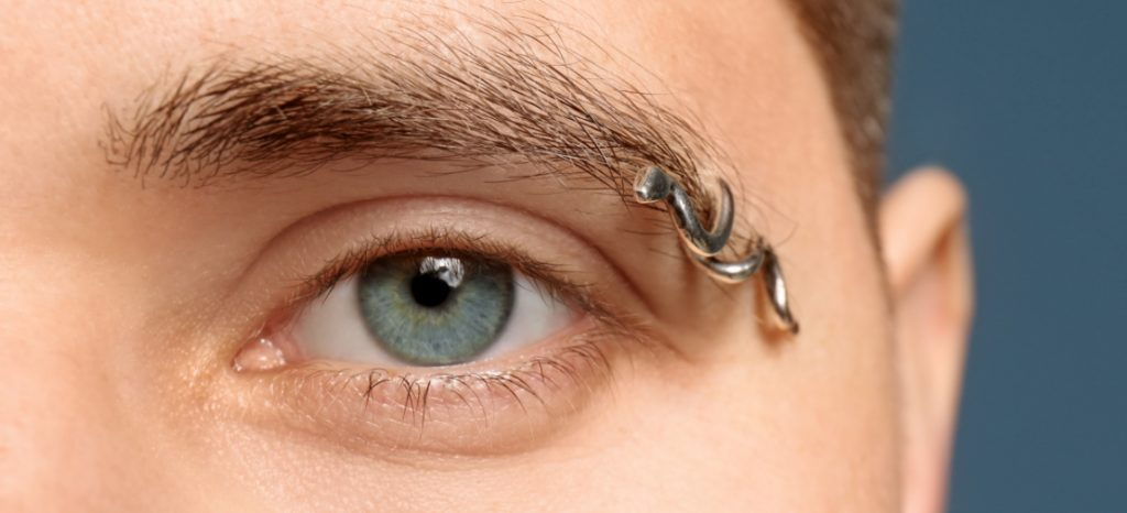 Eyebrow piercing