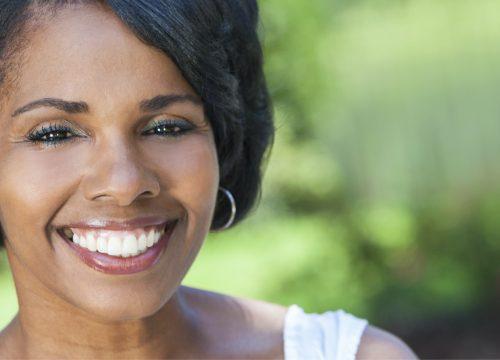 Happy woman after laser facial rejuvenation