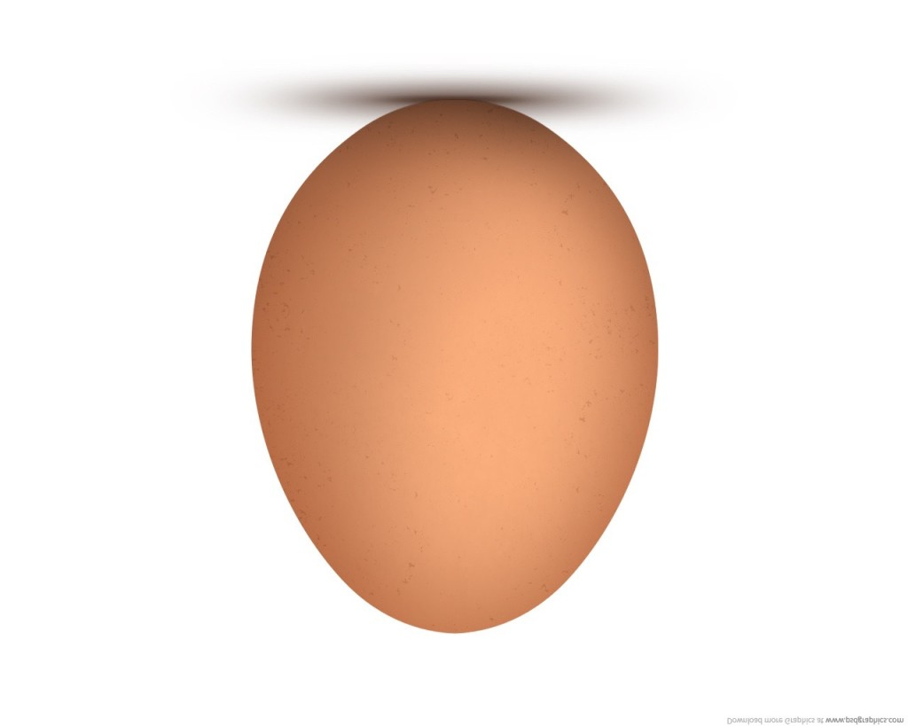 upside down brown egg