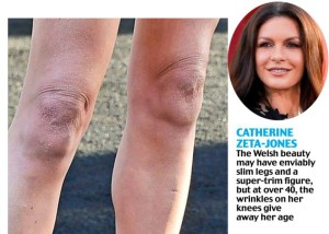 Catherine Zeta-Jones sagging knee photo