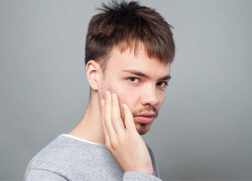 Man with weak chin