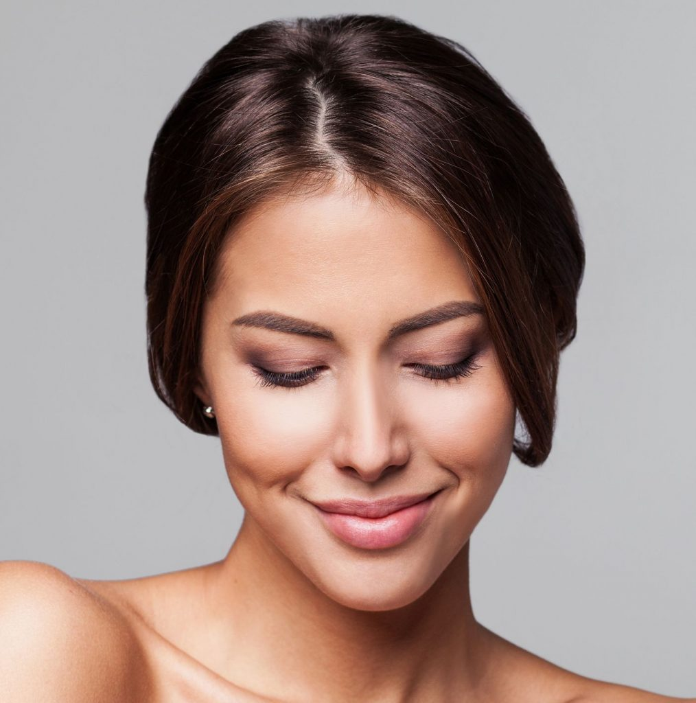 Woman with great facial volume