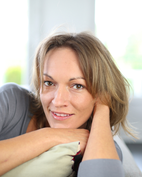 Middle age woman with great skin